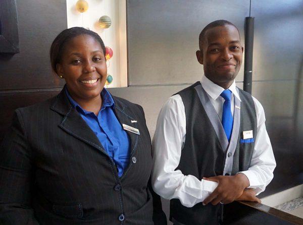Hotellin vastaanotto Mosambikissa