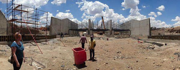 Sillanrakennustyömaa Namibiassa