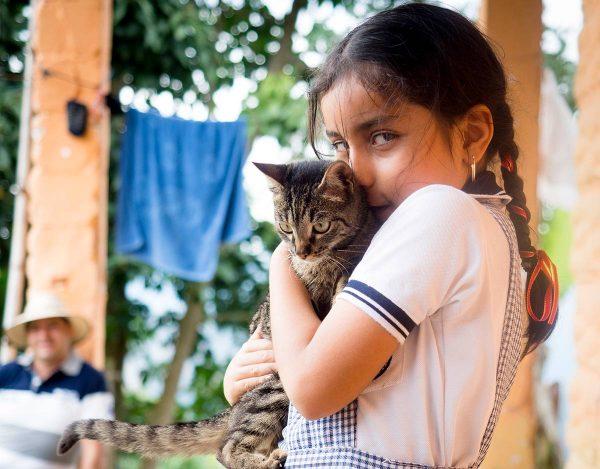 Kolumbialainen maaseudun tyttö