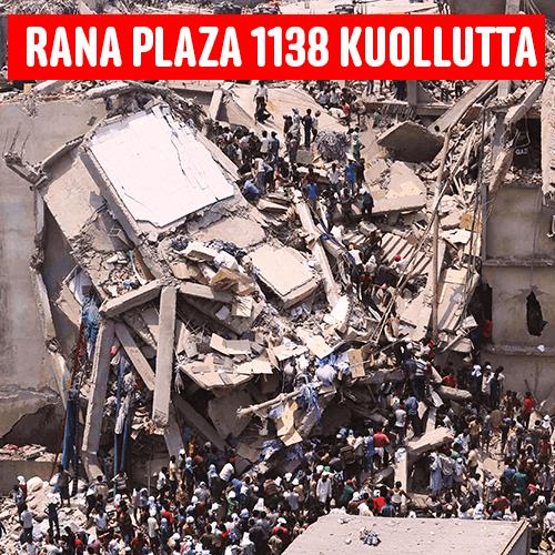 Rana Plazan onnettomuudessa kuoli 1138 ihmistä
