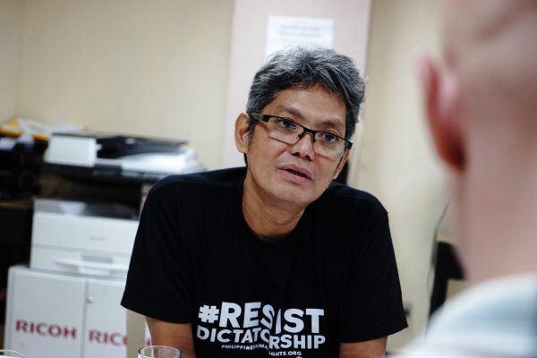 Filippiinien keskusammattijärjestö Sentron pääsihteeri Josua Mata