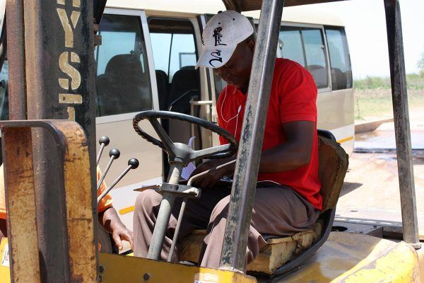 Mosambikilainen trukkikuski