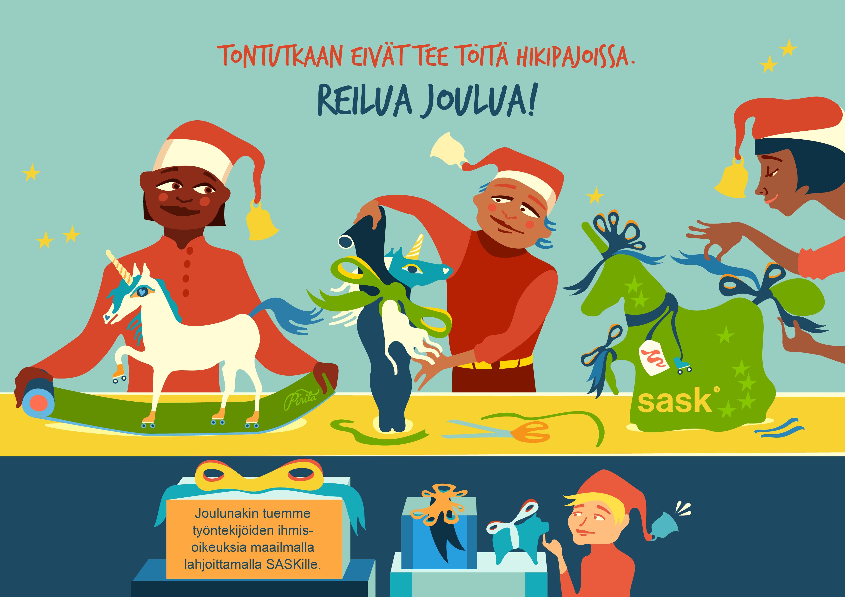 SASKin Reilua joulua - joulukortti 2019