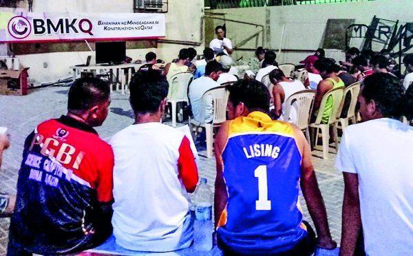 Filippiiniläiset siirtolaiset saavat koulutusta lakiasioista Qatarissa