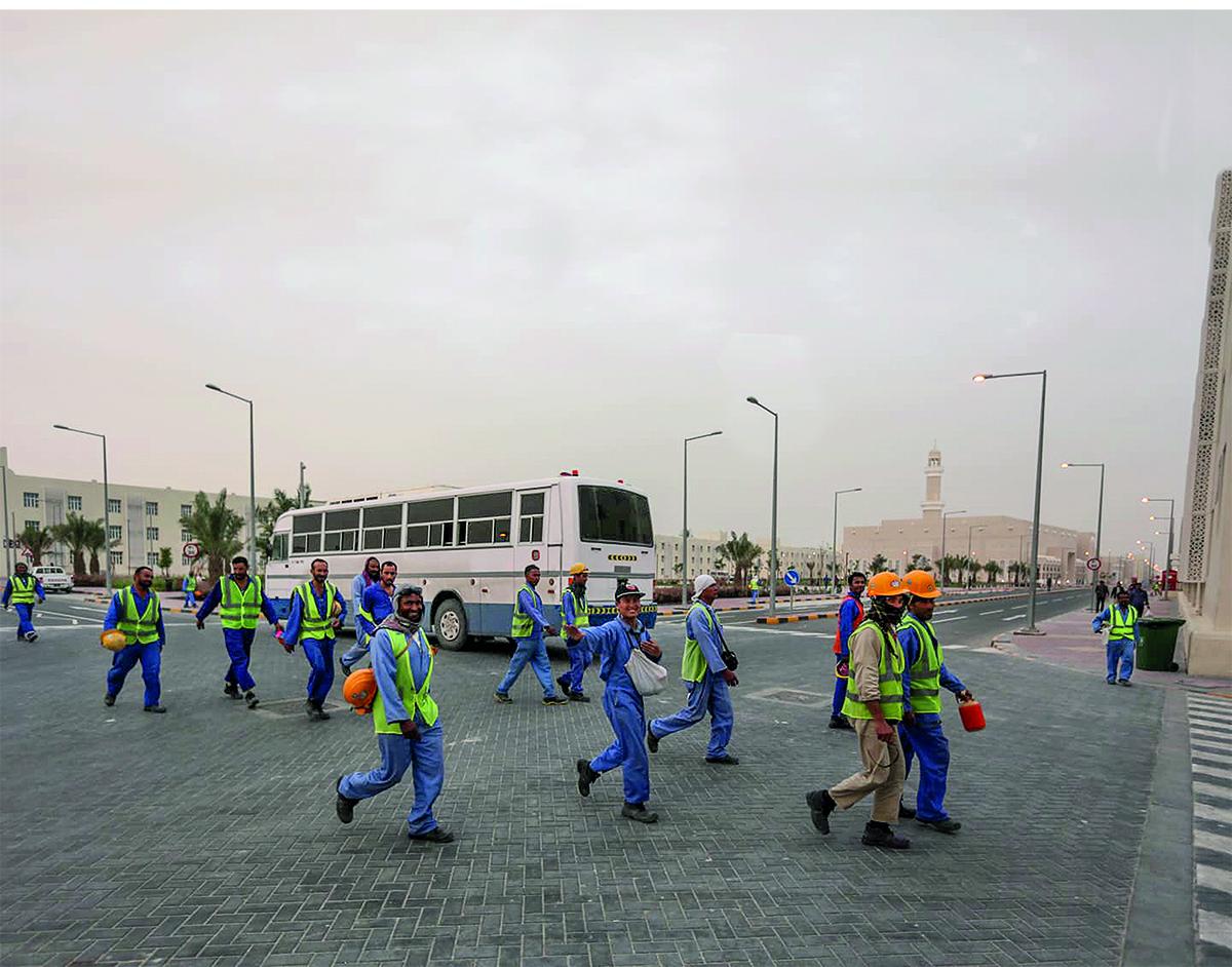 Siirtotyoläisiä Qatarissa