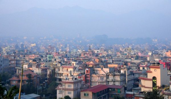 Nepalin pääkaupungin Kathmandun kattoja.